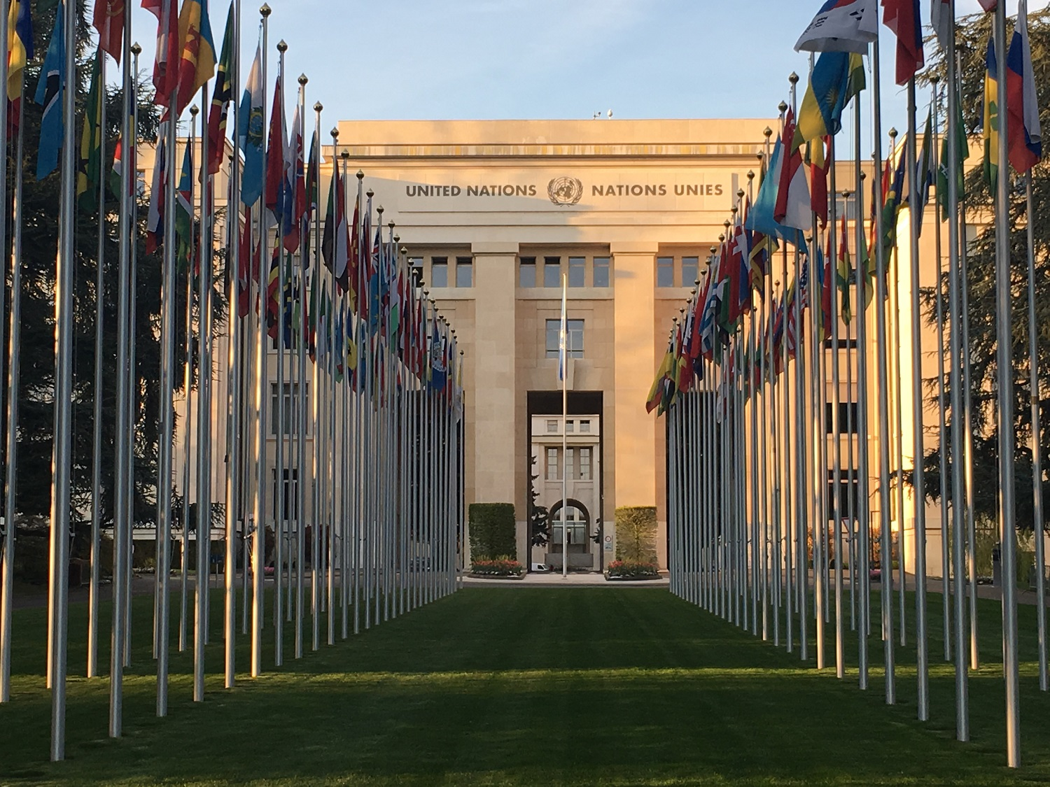 United Nations Geneva Flags