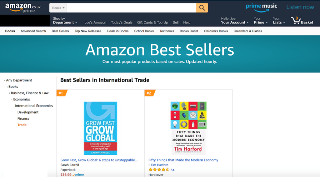 Grow Fast Grow Global No 1 Amazon UK Bestseller